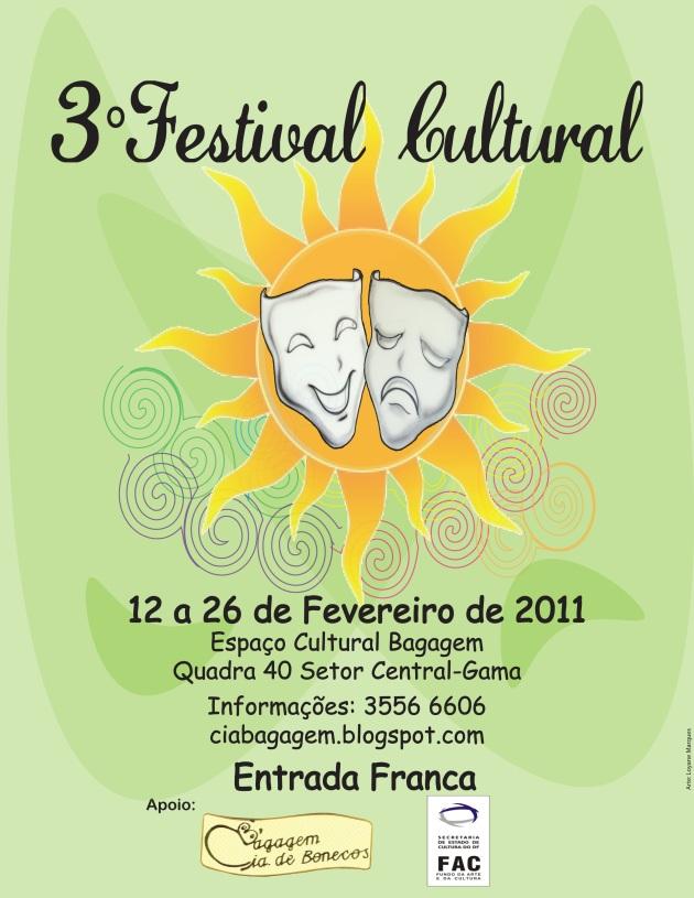 3° Festival Cultural - 12 a 26 de fevereiro de 2011