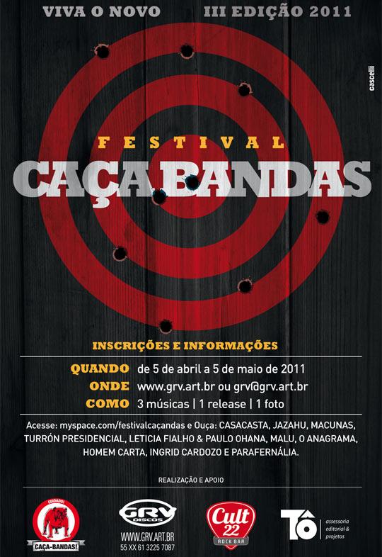 Festival Caça-Bandas 2011 -  www.grv.art.br - CULT 22 ROCK BAR