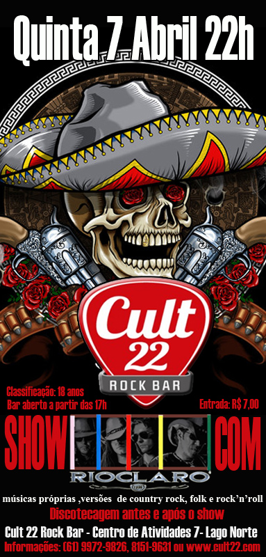 RioClaro, country folk e rock no Cult 22 rock Bar, 07-04-2011