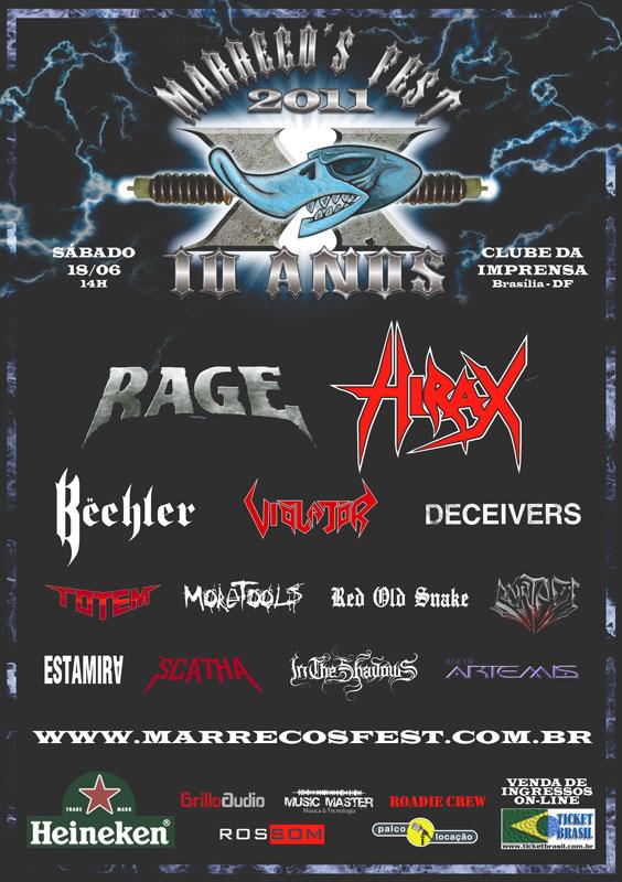 Atrações da 10ª edição do Marreco's Fest, o maior festival de metal do Centro-Oeste