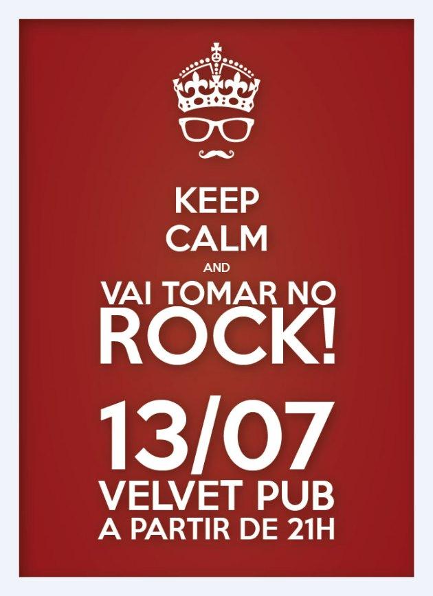 rock é descolado, rock é fashion, rock vanguardista indie remeleixo... vai tomar no rock, bicho! 13/07, 21h, Velvet Pub - 102norte... É isso mesmo…. vamos tomar no rock!? confirme sua presença na comemoração do dia mundial do rock!!!!!!!!! https://www.facebook.com/events/256657167767178/ VAI TOMAR NO ROCK! Grande festa em comemoração ao Dia Mundial do Rock!!! Vá fantasiado de um ícone do rock e concorra a uma garrafa de Tequila!!!! Com A GIG DOS SONHOS: - Adriano Pasqua (Live Wire) - Kameni (Electrodomesticks) - Johnny (Brown-Há) - Marcelo Seabra (Ape X And The Neanderthal Death Squad) - Gustavo Halfeld (Cassino Supernova) - Iano Fazio (Etno) - Jack Coaracy (Watson) DISCOTECAGEM: - Gustavo Bill (Macaco Malvado) - Esquina DJ SET 13/07, sexta-feira, 21h R$10 Velvet Pub, 102 norte!